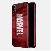 漫威英雄苹果x手机壳iphone xsmax毒液玻璃保护套xs全包彩边硅胶防摔xr蜘蛛侠网红女款潮牌