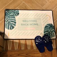 20180721172434879进门垫床边垫门口脚垫北欧叶植物地垫绿色小清新厨房脚垫