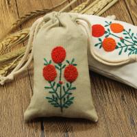 手工零钱包袋子抽绳DIY刺绣材料包欧式刺绣手机袋子束口袋香包