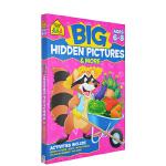 【6-8岁隐藏图画练习】School Zone Big Hidden Pictures Activity Book 儿