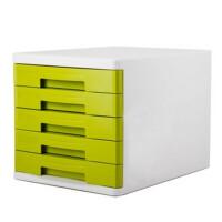 得力(deli) 9762 彩色办公五层文件柜/资料收纳柜 绿色