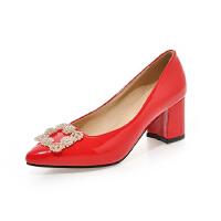 WARORWAR法国新品YGM-A05-3春夏欧美粗跟水钻女鞋潮流时尚潮鞋百搭潮牌单鞋女