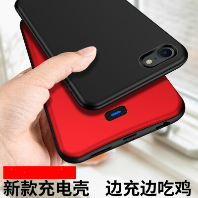 iphone6背夹式充电宝苹果7plus电池6S专用8P便携超薄手机壳无线冲器6sp移动电源大容量版 6/6S/7/8 磨砂黑【听歌款】大容量 升级听歌款大容量360软边全包