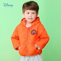 【2件3折到手价:84.6】迪士尼Disney童装 男童菱格连帽棉服冬季加厚保暖外出服儿童时尚外套三层御寒194S13