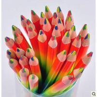 多彩七彩-遇见彩虹 混色涂鸦笔 彩色铅笔 四色彩铅笔 画彩笔 日韩国文具彩虹四色铅笔彩虹混色铅笔 乱芯彩铅 涂鸦创意