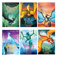英文原版 火翼飞龙系列:Moon Rising/Wings of Fire Winter Turning/Wings of Fire/Talons of Power 6册 儿童课后阅读章节桥梁书