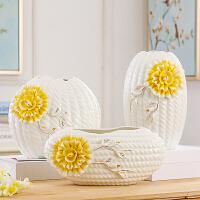 欧式陶瓷摆件现代简约工艺品餐桌客厅电视柜插花家居装饰