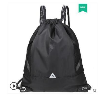 抽绳双肩包男运动篮球包轻便书包旅行束口袋拉绳健身背包训练户外 品质保证 售后无忧 支持货到付款