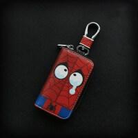 卡通汽车钥匙包个性创意钥匙套可爱韩国女小巧真皮迷你拉链钥匙扣