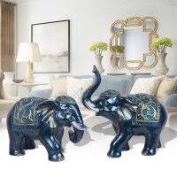 欧式奢华大象客厅招财摆件电视酒柜玄关工艺装饰摆设乔迁礼品