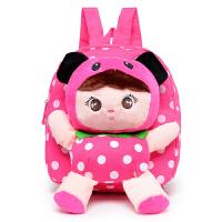 韩版可爱卡通婴儿童幼儿园书包 小孩子女童宝宝双肩毛绒背包1-3岁
