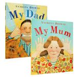 英文原版绘本 My Dad My Mum 我爸爸我妈妈2册 Anthony Browne 廖彩杏 儿童启蒙亲子图画故事