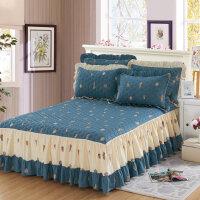 加厚全棉床裙 单件夹棉床罩纯棉席梦思保护套1.2床套1.5m1.8米床