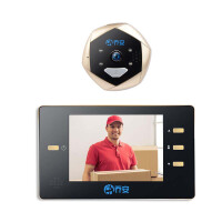 L5 猫眼监控摄像头 家用可视智能高清夜视电子录像防盗门铃门镜摄像头