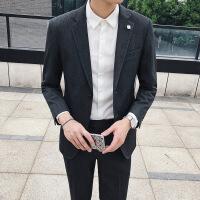 韩国西服套装男职业正装伴郎新郎结婚礼服韩版修身休闲西装二件套
