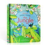 【顺丰速运】英文原版 Peep Inside The Jungle 启蒙儿童科普绘本usborne出品偷偷看里面系列