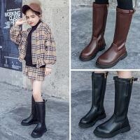 2018秋冬季新款女童靴子儿童加绒过膝高筒靴女孩韩版长皮靴