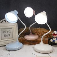 插电装电池款台灯大学生卧室桌面写字小台灯触摸调光可折叠小夜灯
