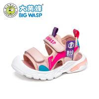 大黄蜂男童学步鞋1-3岁小童机能鞋软底防滑儿童鞋子宝宝包头凉鞋