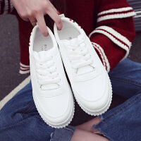 领舞者春季时尚都市学院风板鞋女生小白鞋2026