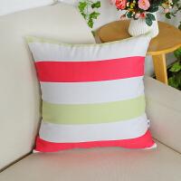 北欧沙发抱枕靠垫条纹正方形靠枕家用70 60枕套子不含芯布艺 大糖果条 QC