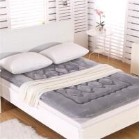 加厚榻榻米床垫冬季珊瑚绒垫被1.5m软海绵床褥单人双人学生软褥子