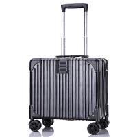 韩版复古行李箱女小清新拉杆箱万向轮22寸学生密码旅行箱26寸男潮 A03登机箱黑色 收藏送箱套小礼品