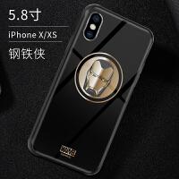 手机壳苹果钢铁侠iPhonexsmax玻璃壳苹果xr手机壳8plus保护套7plus美国队长6S壳