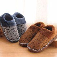 秋冬季棉拖鞋包跟厚底情侣家居防滑保暖居家男女月子鞋毛毛拖鞋男