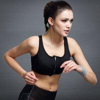 高强度专业无钢圈防震运动内衣工字美背薄款跑步健身瑜伽女拉链款
