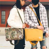原创日系简约百搭手提单肩两用邮差包时尚情侣男女休闲购物袋