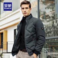 【3折到手价:278】Romon/罗蒙羽绒服短款男冬季新款中青年休闲立领厚款保暖外套