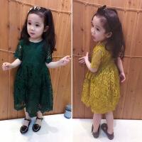 中小儿童连衣裙 2018新款夏装韩版时尚可爱女童蕾丝连衣裙公主裙