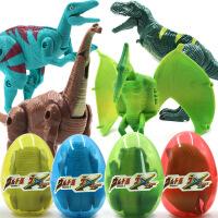 ?恐��蛋�形玩具金�� �和�套�b孵化蛋霸王��仿真�游镄∧泻�2-3-4�q