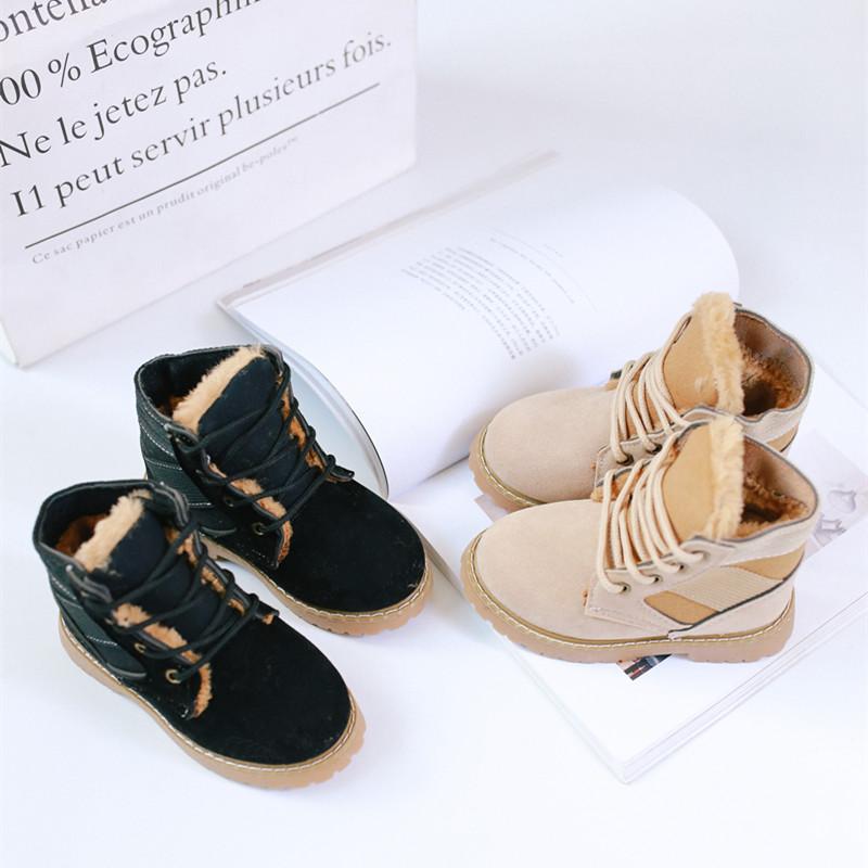冬季新款男童女童战狼靴子宝宝加绒系带保暖英伦中筒靴子潮版 发货周期:一般在付款后2-90天左右发货,具体发货时间请以与客服协商的时间为准