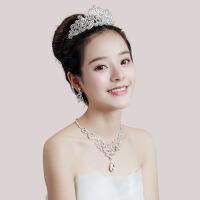 新娘饰品三件套皇冠头饰套装发饰头饰耳环项链