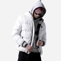 冬季外套男士连帽刺绣棉衣潮流迷彩内里棒球夹克