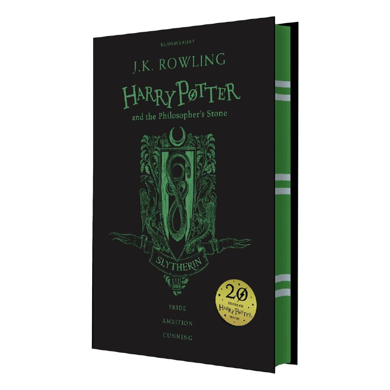 【现货】Harry Potter and the Philosopher's Stone – Slytherin Edition 哈利波特与魔法石 20周年纪念 精装 斯莱特林版 英文原版 国营进口!品质保证!出版社直发!