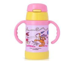 儿童保温杯 便携宝宝学饮杯子 婴儿带吸管水杯带手柄