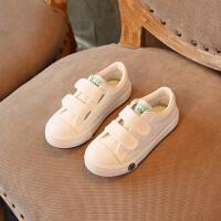 2018春款童鞋儿童帆布鞋小白鞋男童鞋女童鞋休闲鞋运动鞋学校板鞋 白色 1699