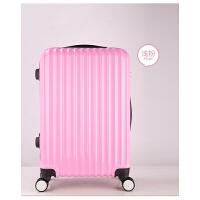 拉杆箱万向轮镜面旅行箱abs+pc 男女密码箱登机20/24寸学生行李箱 20寸[无侧提 送贴纸]