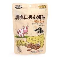 韩国韩香惠 扁桃仁夹心海苔25g 宝宝儿童进口零食休闲即食 非油炸