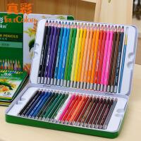 真彩水溶性彩色�U�P 12色24色36色48色木�|�F盒�b水溶彩�U