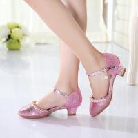 女孩童鞋公主鞋2018春夏季新款包头女童高跟鞋韩版儿童凉鞋
