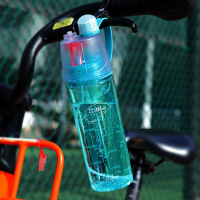 白领公社 玻璃杯 创意透明户外运动办公便携式带盖耐热随手杯子男女学生花茶杯水杯水具