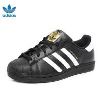 阿迪达斯adidas童鞋17三叶草系列金标休闲鞋儿童运动鞋 防滑耐磨户外休闲鞋大童学生鞋 白色(10-15岁可选) C77154