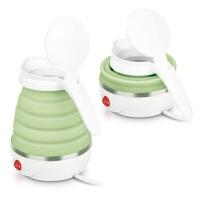 【支持礼品卡支付】nathome/北欧欧慕 NSH0603 旅行电热水壶迷你便携家用折叠烧水壶绿色