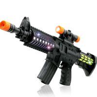 【悦乐朵玩具】儿童早教益智中号电动机关枪冲锋枪灯光音乐手枪玩具枪玩具