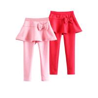 女童长裤裙裤女孩宝宝加绒加厚不倒绒儿童打底裤童装