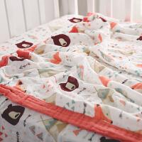 婴儿纱布小被子毯子夏季毛毯盖毯薄款儿童竹纤维空调被宝宝夏凉被